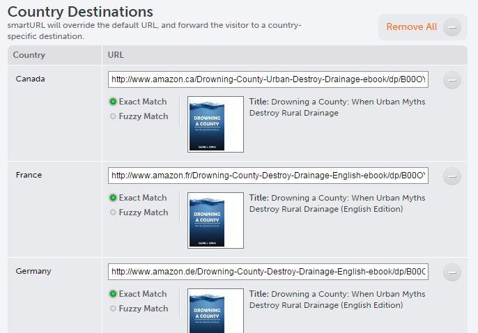 SmartURL regional links