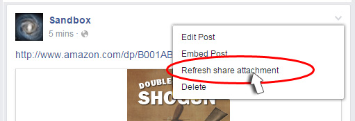 the Refresh Share Attachment feature