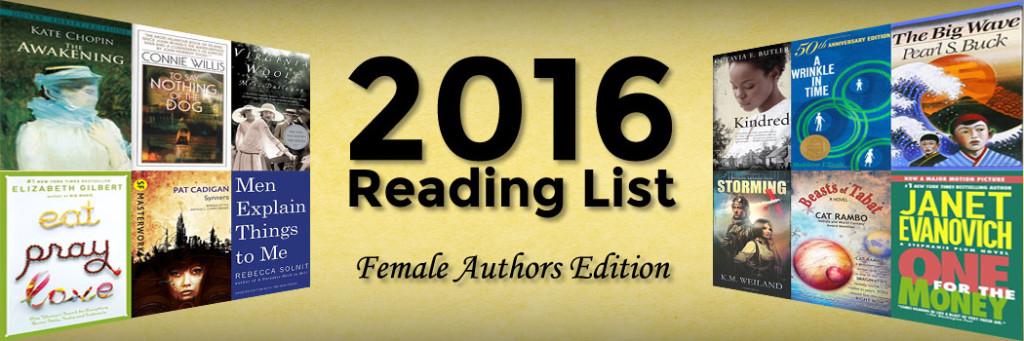 2016 Reading List - Female Authors