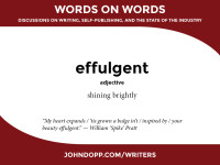 effulgent — shining brightly