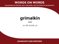 cat language: grimalkin